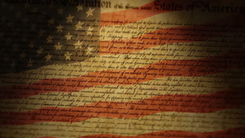Declaration of Independence, USA Flag
