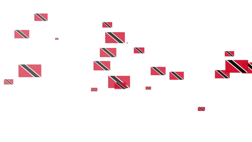 Isolated moving Trinidad heart flag particles on white background. Flags of  Trinidad. Trinidad national flags. | Shutterstock HD Video #17410207