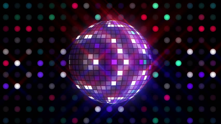Disco ball and LEDs animation for music broadcast TV, night clubs, music videos, LED screens and projectors, glamour and fashion events, jazz, pops, funky and disco party.  #17423230