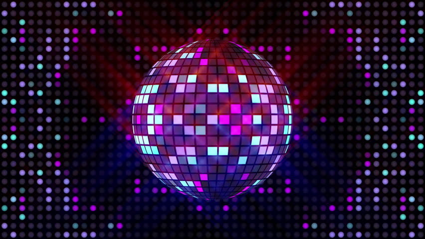 Disco ball and LEDs animation for music broadcast TV, night clubs, music videos, LED screens and projectors, glamour and fashion events, jazz, pops, funky and disco party.  | Shutterstock HD Video #17423254
