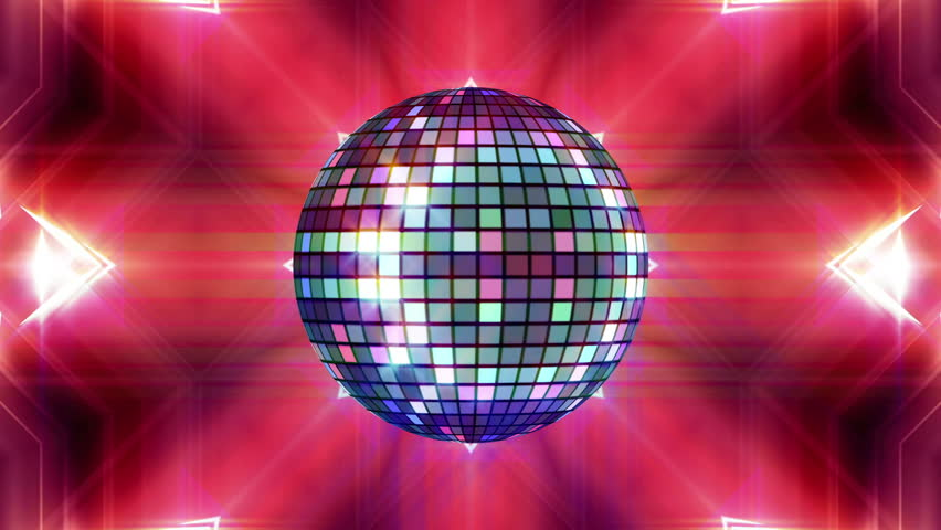 Disco ball and lasers animation for music broadcast TV, night clubs, music videos, LED screens and projectors, glamour and fashion events, jazz, pops, funky and disco party.  #17423257