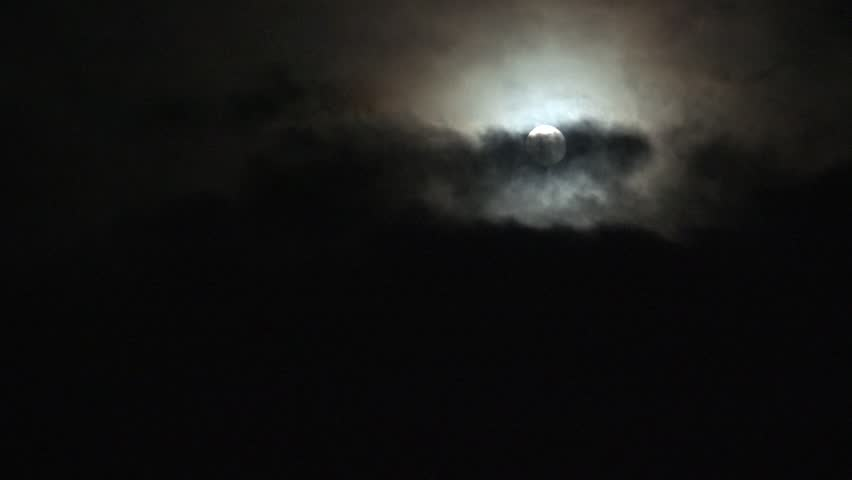 Ultra HD 4K Full Moon in Clouds on Sky in Night View, Moon Light, Evening Background  | Shutterstock HD Video #17433433