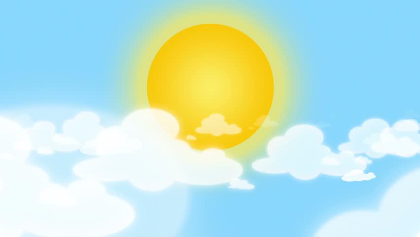 рисунок небо с облаками и солнцем функционал