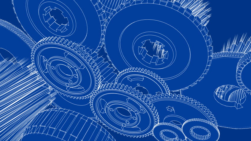 Gears turning blueprint sketch animation stock footage video gears turning blueprint sketch animation stock footage video 1749218 shutterstock malvernweather Gallery