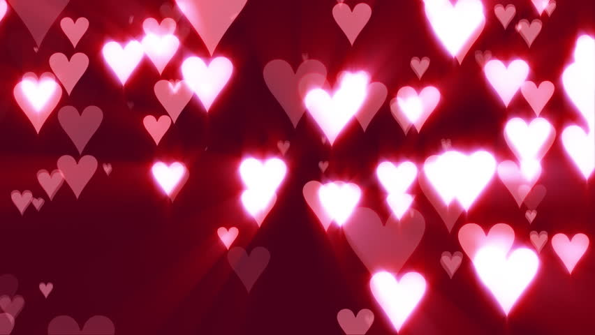 Hearts of Love Pink Background