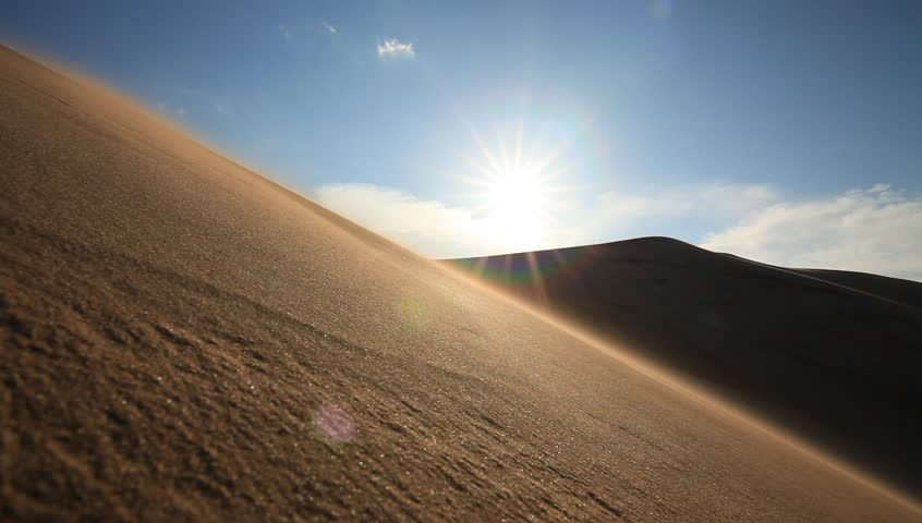 Big sand dune in the Sahara desert. | Shutterstock HD Video #17527945