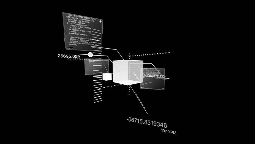 Digital Data Code Network Interface Technology   Shutterstock HD Video #1753013