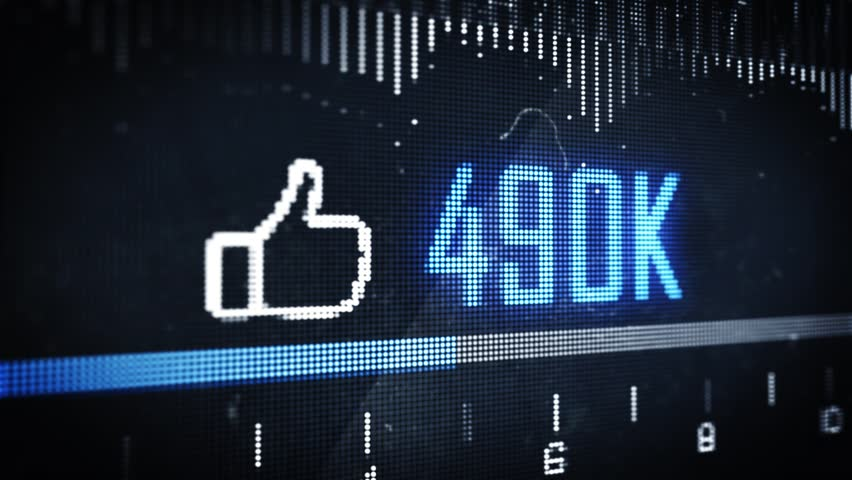 Social Media Thumbs Up Like Button Counter on Pixel Screen Close up | Shutterstock HD Video #17538982
