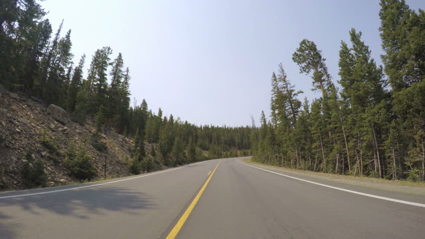 Car driving through alpine forest on Mount Evans-POV point of view. | Shutterstock HD Video #17553136