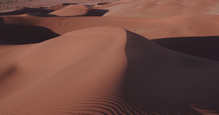 4K panning shot of the endless sand dunes of the Namib desert    Shutterstock HD Video #17556646