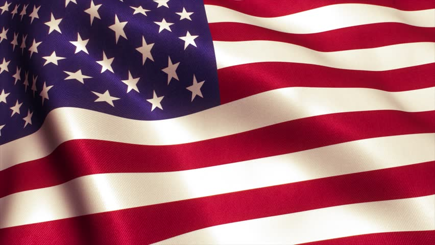 USA American Flag. Seamless Looping Animation. 4K High Definition Video