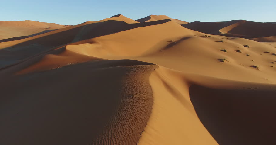 Spectacular epic aerial view of endless sand dunes of the Namib desert Namibia