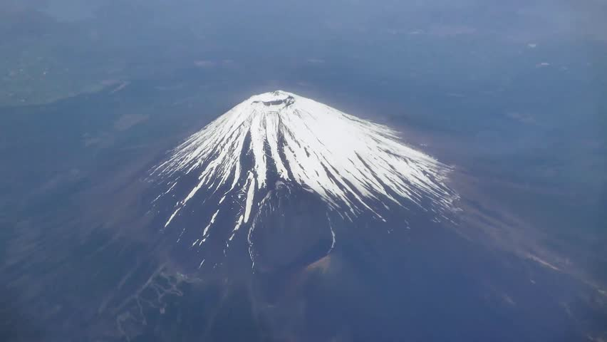4K Aerial view of Mount Fuji covered in show, Japan | Shutterstock HD Video #17575414