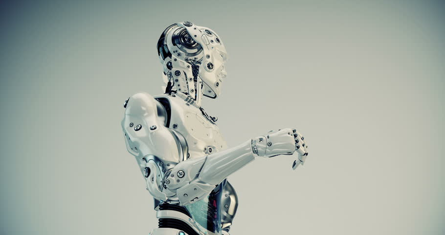 Robotic man gesturing | Shutterstock HD Video #17586268