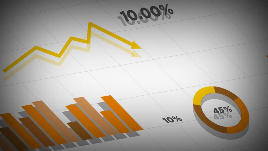 Seamless Animation of Business Data Stock Footage