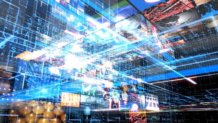 Video Wall Technology Matrix | Shutterstock HD Video #1761287