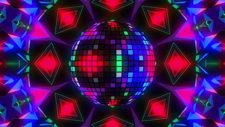 Blinking Disco Ball On Kaleidoscope Stock Footage Video (100% Royalty-free)  17642899 | Shutterstock