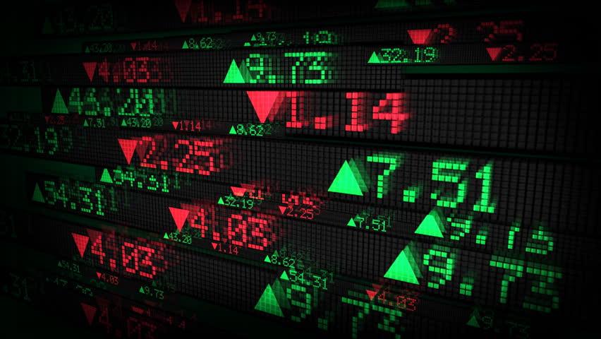 Stock Market Tickers Price Data Animation | Shutterstock HD Video #1764728