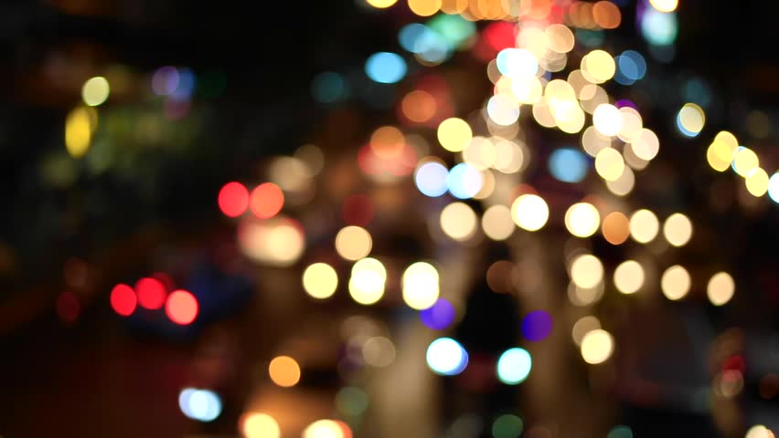 Blurred bokeh lights