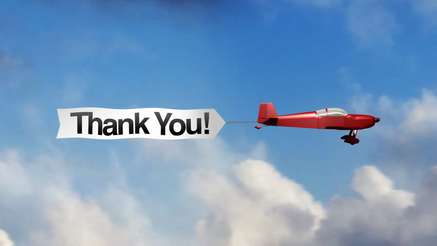 airplane banner  thank you stock footage video 100