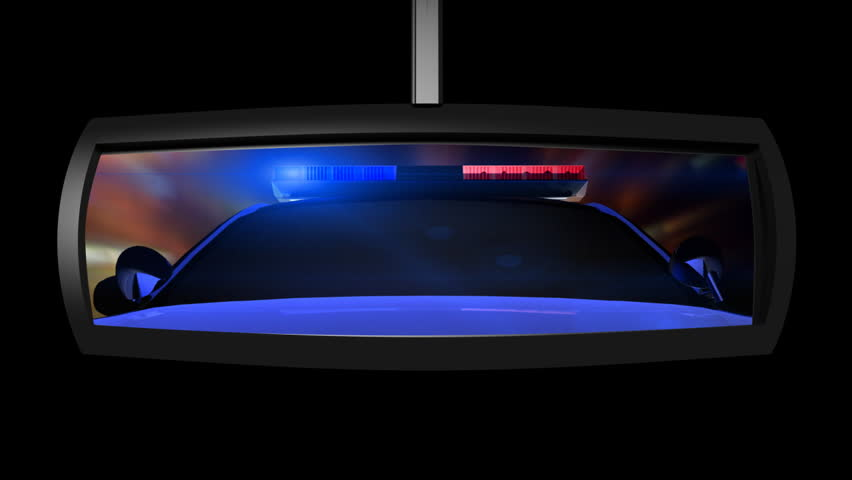 Police Car in the Rearview Mirror | Shutterstock HD Video #1767746