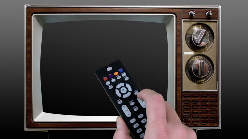 Remote Control Television on Chroma Key Green Screen