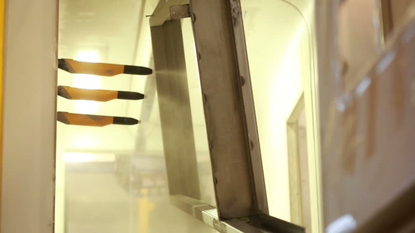 Painting chamber. painting of metal parts. | Shutterstock HD Video #17708785