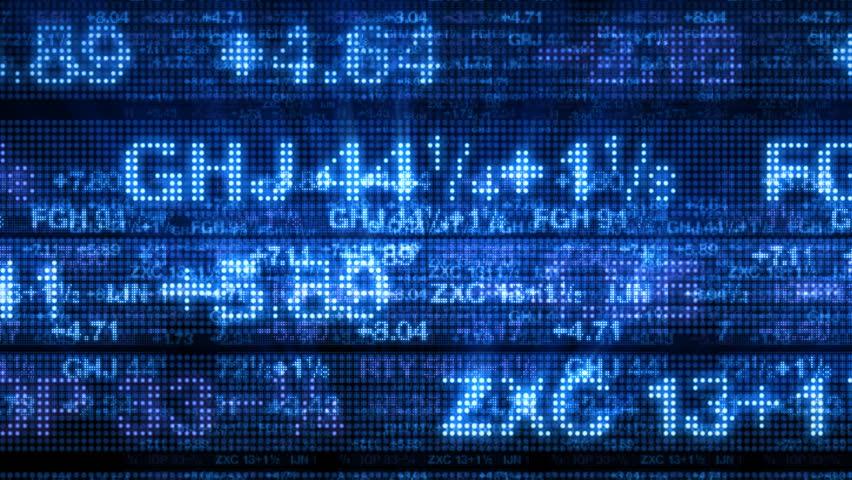 Stock Market Data Tickers Board 3D | Shutterstock HD Video #1771547