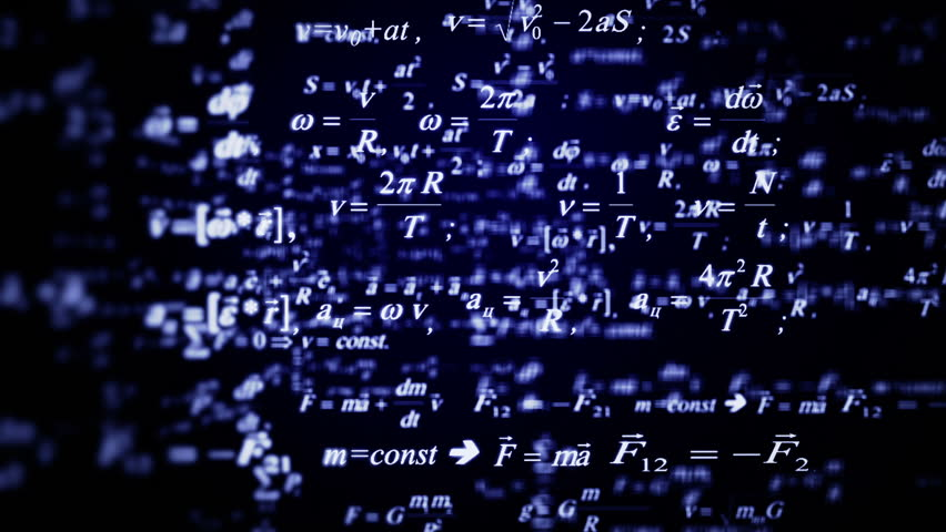 Beautiful blue formulas flying. Good for sciense titles and background, news headline business intro screensaver and opener. School education presentation, diploma project. Physics science. | Shutterstock HD Video #17717062