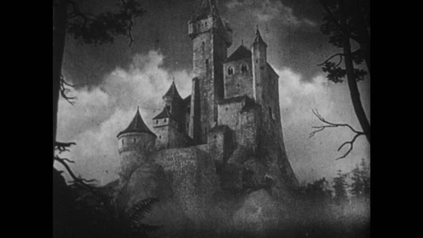 GERMANY 1930s: Animated, view of castle / Dissolve, view through castle window, queen on balcony.   Shutterstock HD Video #17729767