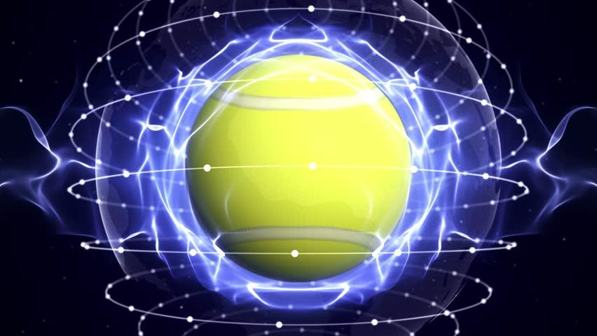 TENNIS BALL Animation, Loop, 4k