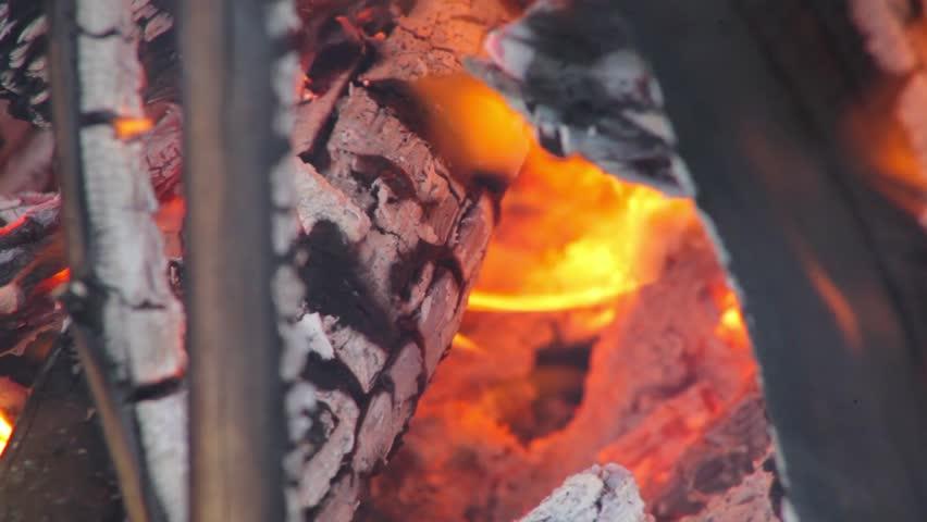 Evening bonfire/Bright fire burning in nature   Shutterstock HD Video #17784934