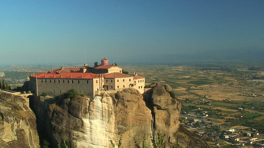 Monastery Overlooking Northern Greek Valley