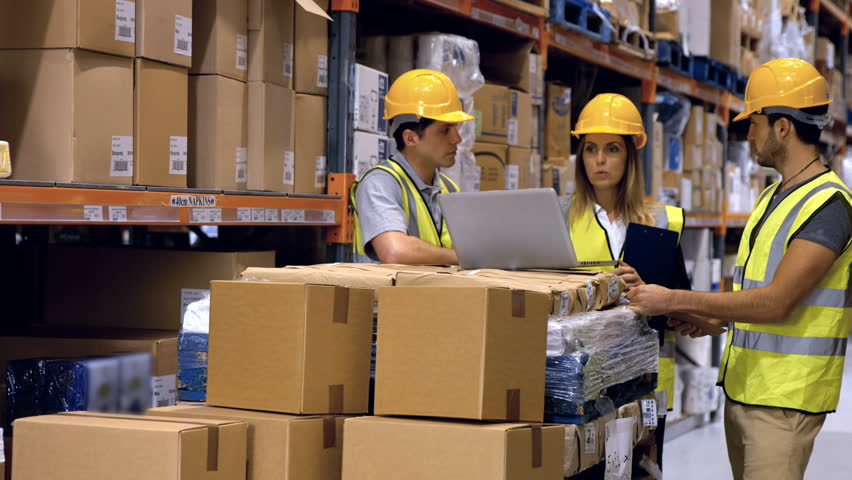 Workers Having Discussion On Laptop Stock Footage Video (100 ...