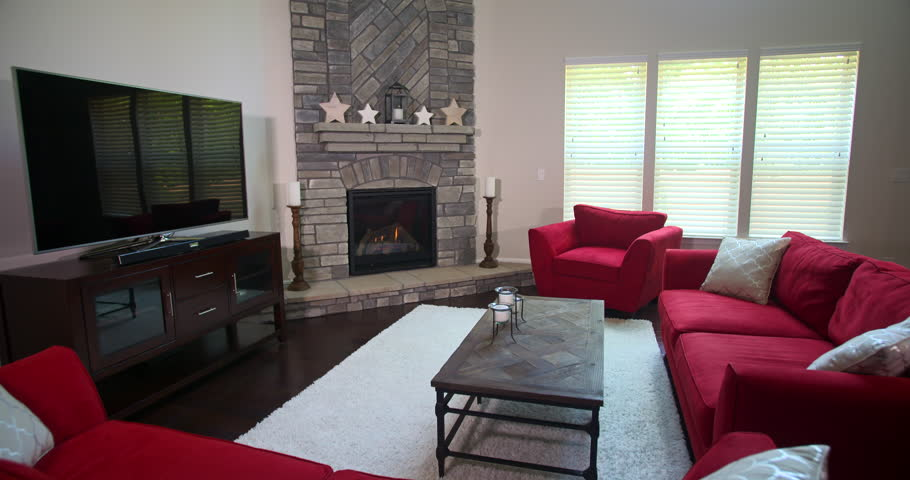Modern Living Room Revealed From Stock, Furnished Living Rooms