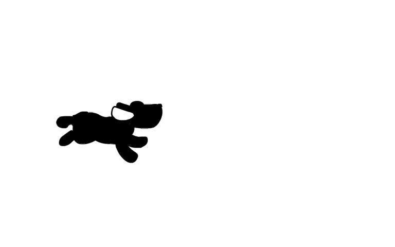 Funny running dog, cartoon animation