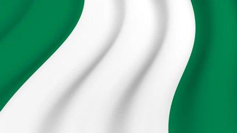 Waving national flag of Nigeria