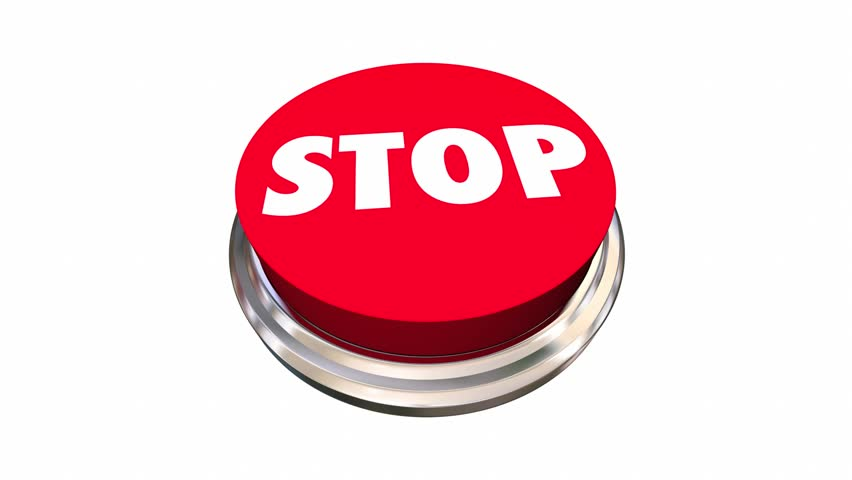 Stop Red Round Button End Cease Word 3d Animation | Shutterstock HD Video #17935828
