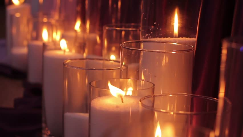 Candles Burning in the Dark, Stock Footage Video (100% Royalty-free)  17945860 | Shutterstock