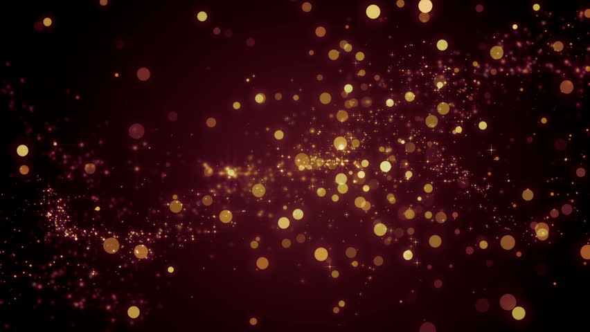 Space orange with particles and waves.Universe red dust with stars on black background. Motion abstract of particles. VJ Seamless loop. #17961583