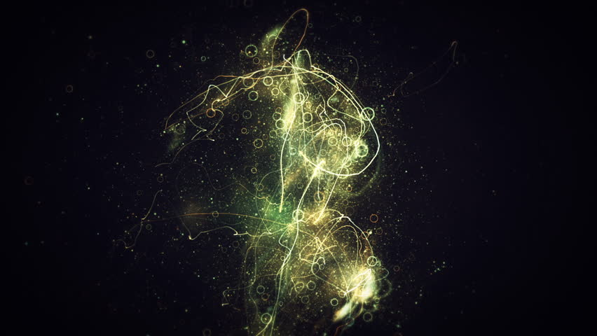 Glowing trails exploding particles and rings dancing in space. Use in music videos, broadcast, tv, film, editing, live visuals, VJ loops, or art. | Shutterstock HD Video #18056443
