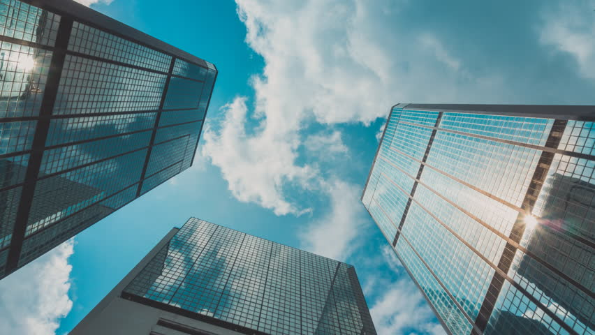 Corporate Buildings, Blue Sky and Clouds | Shutterstock HD Video #18059272