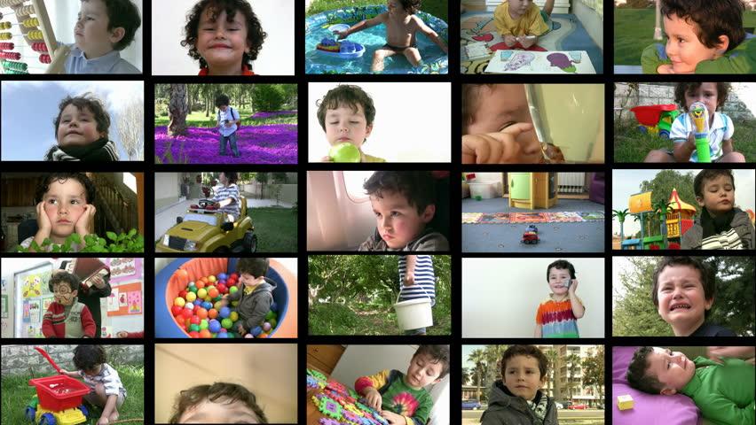 Little boy montage   Shutterstock HD Video #1806869