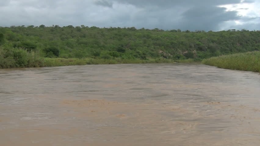 Imfolozi river in flood