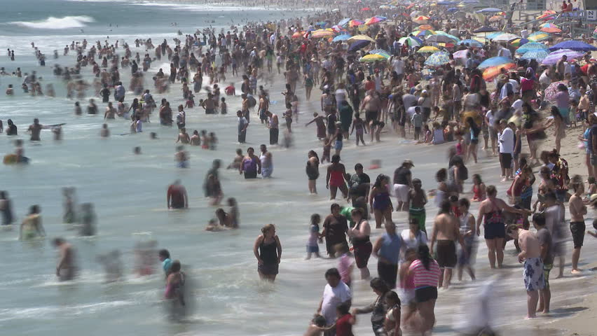 Crowded Beach | Shutterstock HD Video #1808555