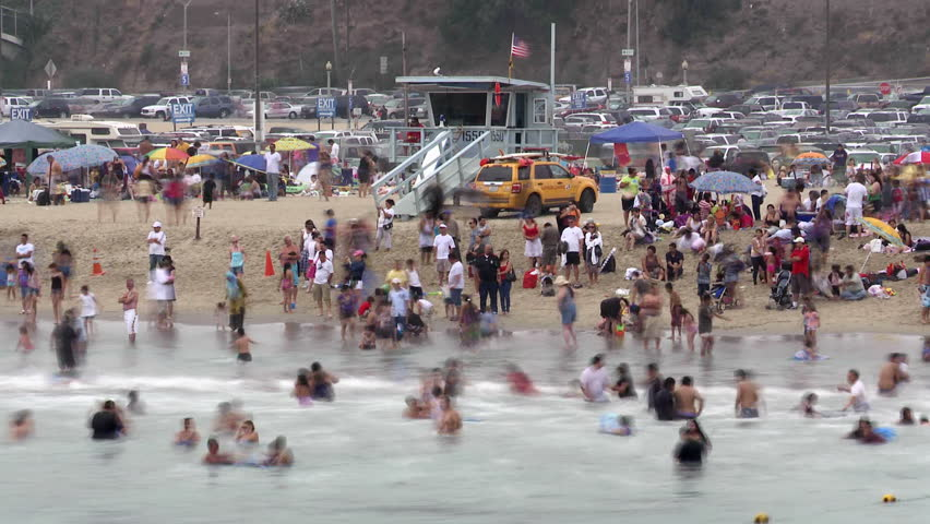 Crowded Beach | Shutterstock HD Video #1808585