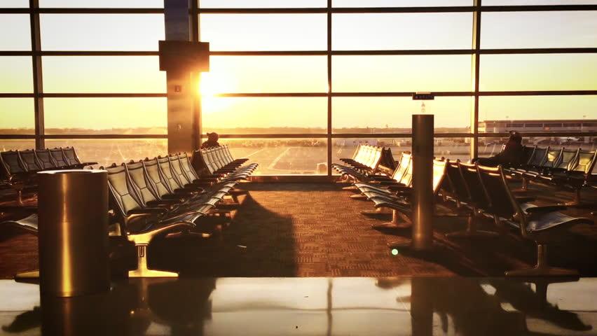 Airport Terminal Sunset | Shutterstock HD Video #18090538