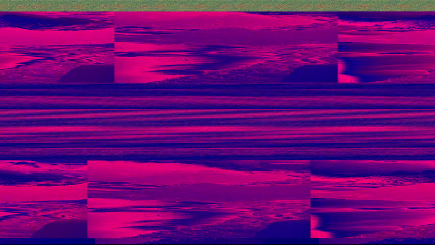 Computer Crash with Distorted Video Transmission, bars and glitches. | Shutterstock HD Video #18128728