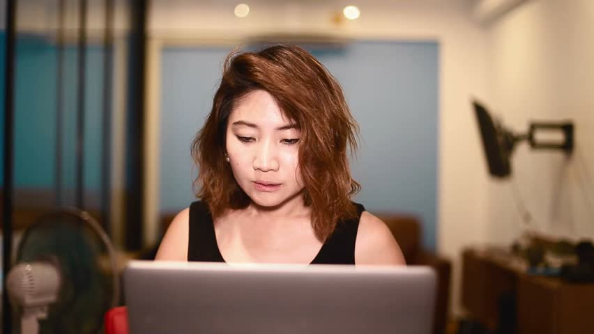 CHIANG MAI,THAILAND - CIRCA July 2016 :thai woman watches tv and cheers   Shutterstock HD Video #18142333
