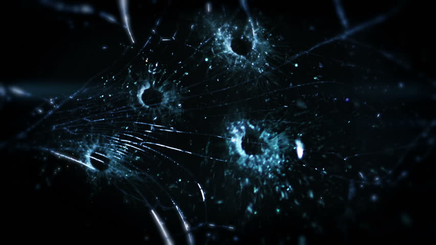 High speed camera shot of shattering glass, isolated on a black background. Can be pre-matted for your video footage by using the command Frame Blending - Multiply.  | Shutterstock HD Video #18213037